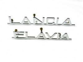 Scritta lancia Flavia ottone cromato mm.180