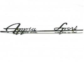 Scritta Appia Sport cromata mm.238