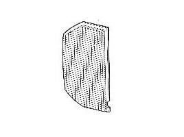 plastica posteriore luce retromarcia per Beta coupè