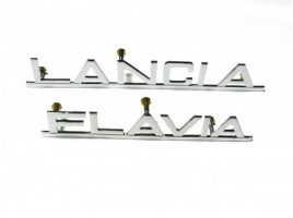 Written lancia Flavia chromed brass 180 mm.