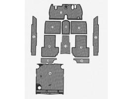 Tappeti SERIE COMPLETA 1a SERIE (copribatteria escluso) per Aurelia B20 GT