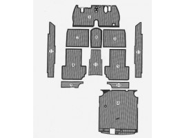Tappeti SERIE COMPLETA 2a e 3a SERIE (copribatteria escluso) per Aurelia B20 GT