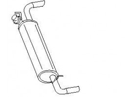 Rear exhaust pipe DELTA HF 4WD 2.0-2.0 16 V INTEGRAL DELTA