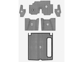 FULL SET of RUBBER MATS without TRUNK for Flaminia Berlina (1957-59) and Flaminia Coupé Pininfarina (1959-63)
