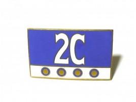2 mm enamelled emblem. 60x35 to Fulvia berlina