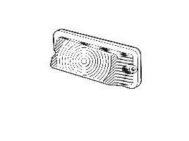 plastica freccia anteriore con bordo metalizzato per Fulvia Zagato