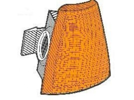 gruppo ottico freccia anteriore arancione per Thema 1° serie senza porta lampada